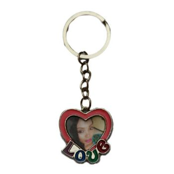 Personalised Love Keyring with Photo Frame